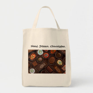 Need. Jokers. Chocolates. Grocery Totebag. Tote Bag