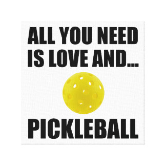 Need Love And Pickleball Canvas Print