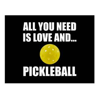 Need Love And Pickleball Postcard