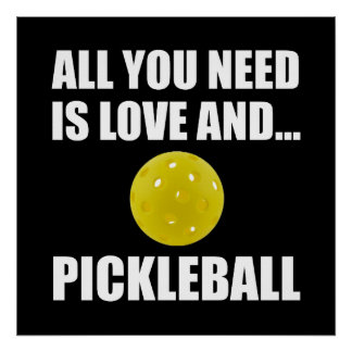 Need Love And Pickleball Poster