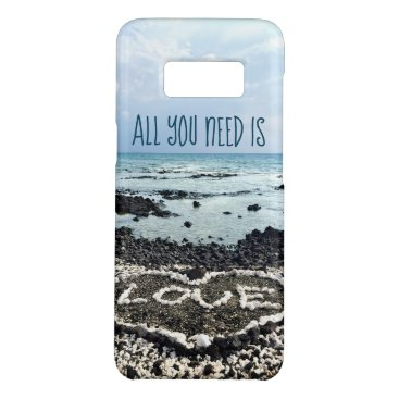 "Beach Themed ""Need Love"" Quote Hawaii Beach & Coral Heart Photo Case-Mate Samsung Galaxy S8 Case"