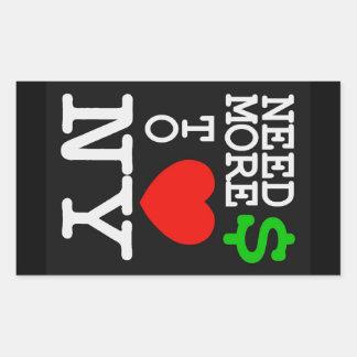 need money for NY - black sticker
