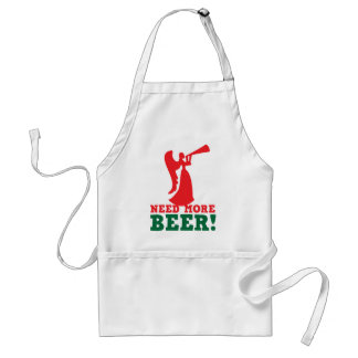 Need more beer adult apron