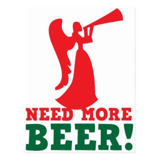 Need more beer postcard