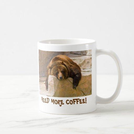 NEED MORE COFFEE! CLASSIC WHITE COFFEE MUG