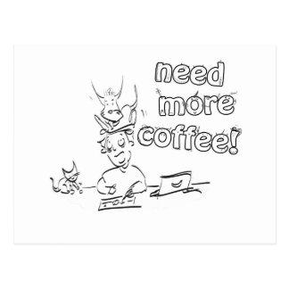 Need More Coffee! Postcard