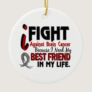 Need My Best Friend Brain Cancer Ceramic Ornament