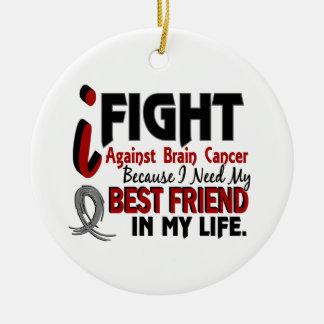 Need My Best Friend Brain Cancer Christmas Tree Ornament
