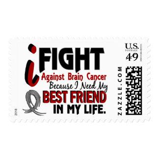 Need My Best Friend Brain Cancer Postage