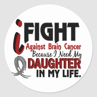 Need My Daughter Brain Cancer Classic Round Sticker