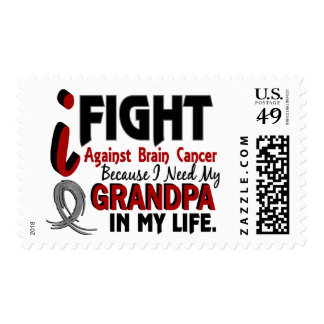 Need My Grandpa Brain Cancer Postage Stamps