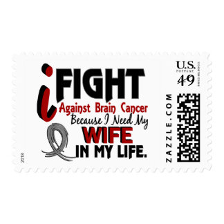 Need My Wife Brain Cancer Postage Stamp