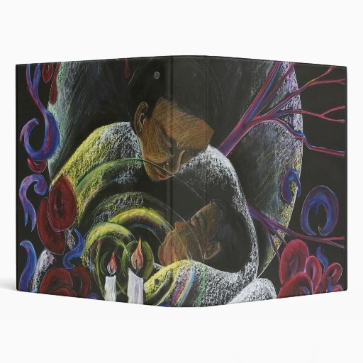 Need not Suffer Alone - Sickle Cell Art 3 Ring Binders