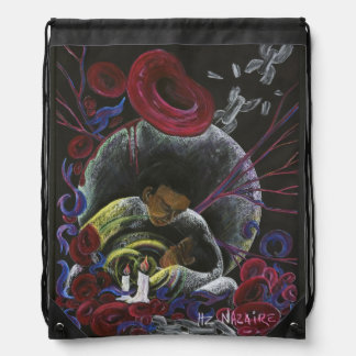 Need not Suffer Alone - Sickle Cell Art by Nazaire Backpack