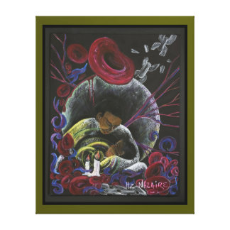 Need not Suffer Alone  - Sickle Cell Art Canvas G