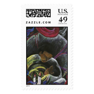 Need not Suffer Alone - Sickle Cell Art Print Stamps