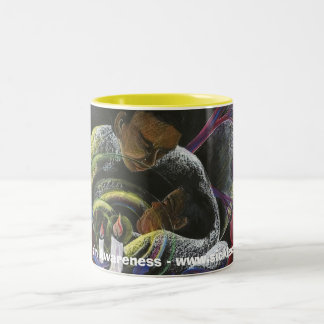Need not Suffer Alone - Sickle Cell Art Two-Tone Coffee Mug