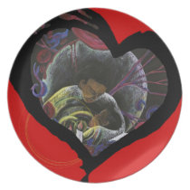Need not Suffer Alone - Sickle Cell Heart Art Melamine Plate