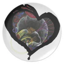 Need not Suffer Alone - Sickle Cell Heart Art Plate