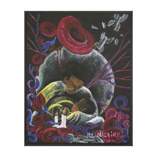 Need Not Suffer Alone - Sickle Cell Pain Awareness Stretched Canvas Print