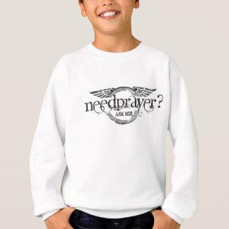 Need Prayer - Grunge Wings Sweatshirt