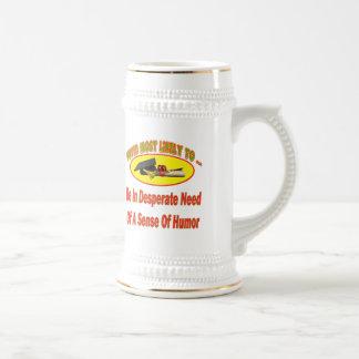 Need Sense Of Humor 18 Oz Beer Stein