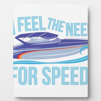 Need Speed Plaque