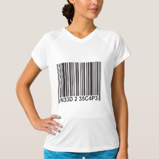 Need to Escape - Barcode Leetspeak T-Shirt