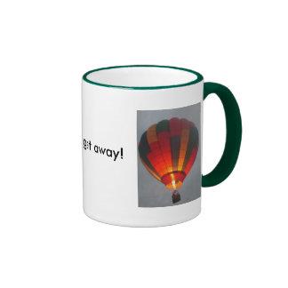Need to get away! ringer coffee mug