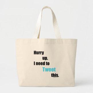 Need to Tweet this Jumbo Tote Bag