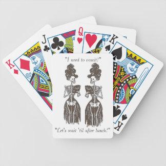 Need to Vomit Skin & Bones Speak Series Bicycle Playing Cards