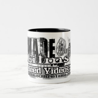 need videos made logo Two-Tone coffee mug