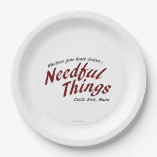 Needful Things Paper Plate