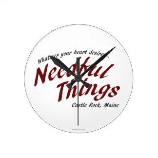 Needful Things Round Clock