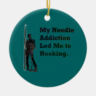 Needle Addiction Ceramic Ornament