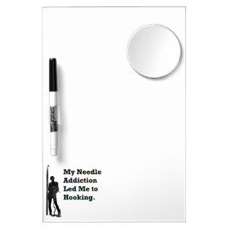 Needle Addiction Dry Erase Board With Mirror