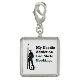 Needle Addiction Photo Charm