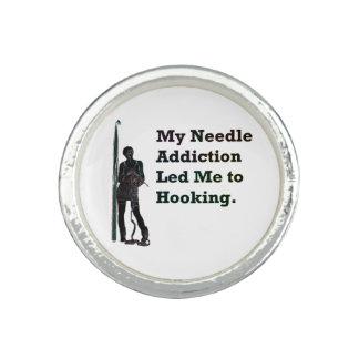 Needle Addiction Photo Rings