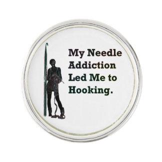 Needle Addiction Pin