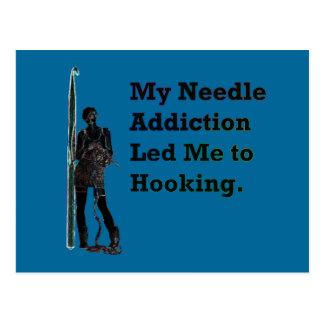 Needle Addiction Postcard