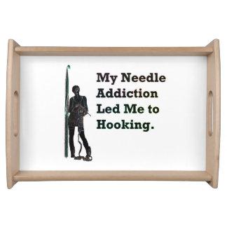 Needle Addiction Serving Tray