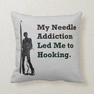 Needle Addiction Throw Pillow