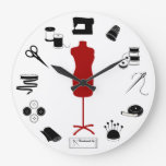 Needle and Thread Time Sewing Clock