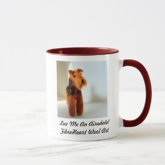 Needle Felt Airedale Art Print Mug