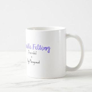 needle felting stress relief + anger management coffee mug