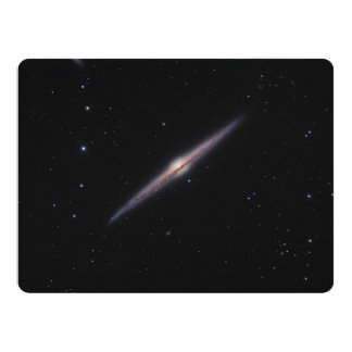 Needle Galaxy NGC 4565 edge-on spiral galaxy Card