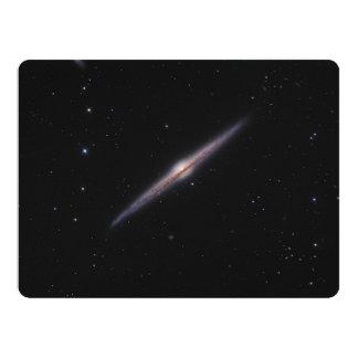 "Needle Galaxy NGC 4565 edge-on spiral galaxy 6.5"" X 8.75"" Invitation Card"