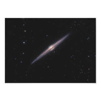 "Needle Galaxy NGC 4565 edge-on spiral galaxy 5"" X 7"" Invitation Card"