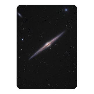 "Needle Galaxy NGC 4565 edge-on spiral galaxy 4.5"" X 6.25"" Invitation Card"