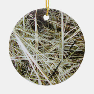 """""""needle in a haystack"""" 2 SIDED ornament"""